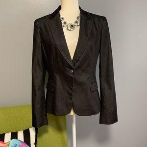 Tahari Charcoal Sheen Blazer Jacket